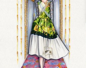Simone Rocha Fashion Illustration