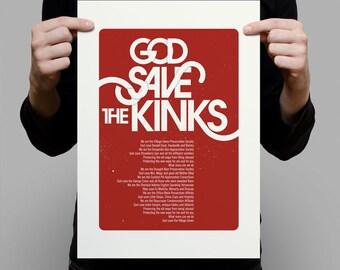 God Saves the Kinks A3 Artprint