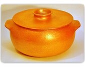 Casserole,  Clay Cookware, 4.75 qt, Handcoiled Micaceous Cooking Pot, Ceramics and Pottery Serving Dish