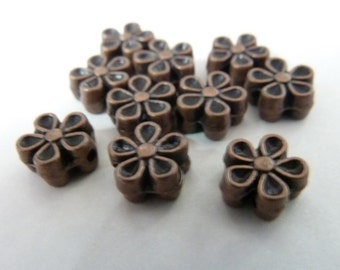 Copper Flower Spacer Beads