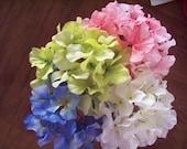 Hydrangea flowers, jar filler, vase filler, floral arrangement, flower bunch.
