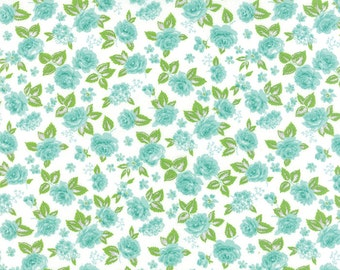 Sew and Sew by Chloes Closet for Moda Floral Garden in Berrylicious Whip Cream 1 yard YES!! Continuous cuts and combined shipping
