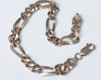 Milor Figaro Chain Bracelet Sterling Silver Gold Wash Vintage