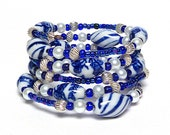 CRUISING THE ARCTIC coil Beaded Bracelet by Beading Divas Fundraiser
