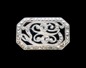 Marcastie Bracelet or Necklace Slider in Silver Antique