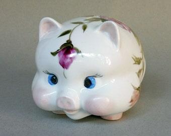 Pink Rose Piggy Bank