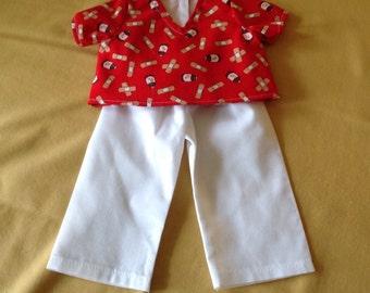 18 inch doll clothes Nurses Scrubs