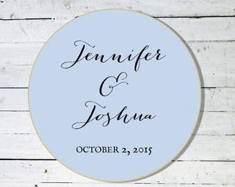 Custom Large Sticker - Welcome Bag Sticker - Wedding Favor Sticker