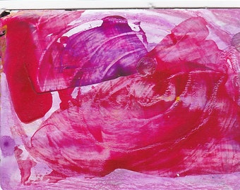 Abstract Painting #5 - Acrylic ACEO ATC - Giclee Print