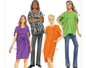 Ladies' Dresses and Tops - Butterick 5848 - Out of Print Sewing Pattern, Sizes X-Small, Small, and Medium