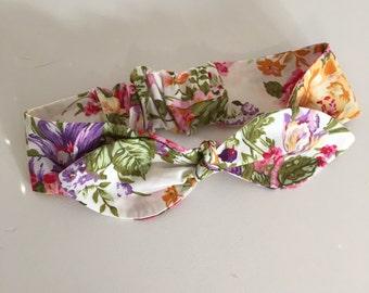 Cotton Top Knot || Girls Headband || Babies HeadBand ||Flower Bouquet