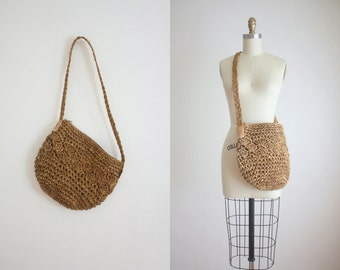 woven jute shoulder bag