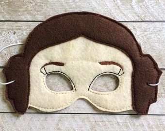 Children's Princess Leia Star Wars Felt Mask