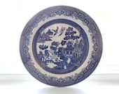 Vintage Churchill England Blue Willow Dinner Plate