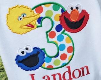 Boys Sesame Street Birthday Shirt