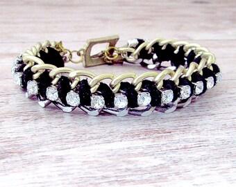 Suede Wrapped Bracelet - Bracelet Suede Leather - Leather Suede Bracelet - Leather Bracelet - Suede Wrapped Leather Bracelet - Boho Bracelet