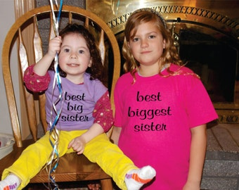 Looking For A Shirt To Announce Your New Baby? Best Big Sister And Best Biggest Sister Shirts Make The Perfect Gifts, Gift Ideas