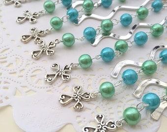 Communion, baptism favor bookmark set of TEN. CHOOSE colors.