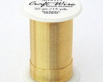 Tarnish Resistant Wire Gold Color 20ga 15YD Spool