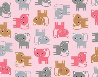 Urban Zoologie Kittens Cats Blush Ann Kelle Designs Robert Kaufman Fabric