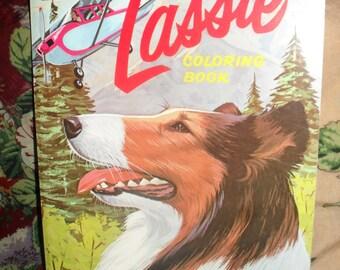 Vintage - Lassie Lg Coloring / Activity Book  - Whitman - 1969 - unused, new