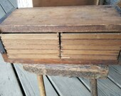 Primitive Antique Ten Drawer Wooden Cigar Dryer Box from Rustysecrets
