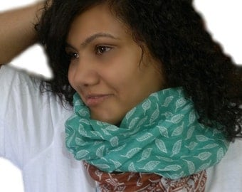 Turquoise Cotton Scarf, Summer Scarf, Lightweight Cotton Scarf, Hippie Scarf, Indian Saree Scarf, Indian Scarf, Cowl Scarf, Boho Scarf