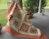 "Granny Squares Twin, Youth, Daybed Snuggle Quilt 85"" x 85"" Somerset by Joanna Figueroa"