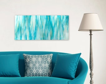 Abstract Painting, Beach Decor, turquoise blue white gold silver, Original Acrylic Canvas Wall Art, Modern Contemporary, Jessica Torrant