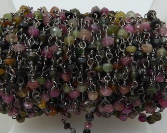 tourmaline rosary chain