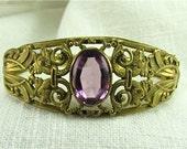 Circa 1900 Ornate Gilded Bracelet