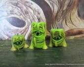 Zombie Eye Candles dollhouse miniature, spooky, halloween, creepy in 1/12 scale