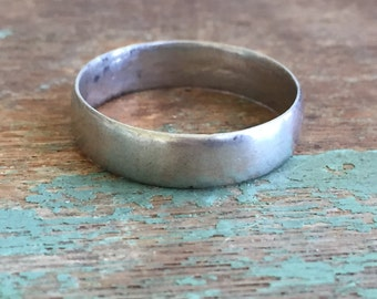 Vintage Men's Sterling Silver 925 Ring Band Simple Size 12.5