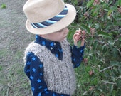 Nico sweater vest - knitting pattern - pdf