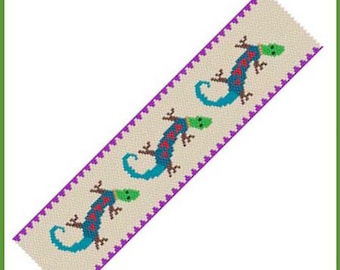 Three Geckos Bracelet - Peyote