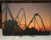 "Fury 325 Roller Coaster at Sunset Carowinds Amusement Park 30""x20"" Canvas Print"