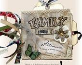 Mini Scrapbook, Mini Album, Family, Memories,  House Warming Scrapbook, Friend Album