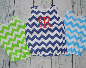 CLEARANCE  Personalized Chevron Bubble Romper Monogram