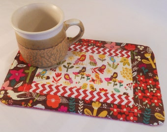 Quilted Hot Pad / Table Topper or Mug Rug