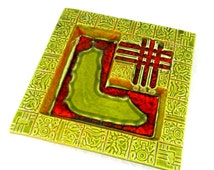 Tiki Design Ashtray by Red Wing Potteries