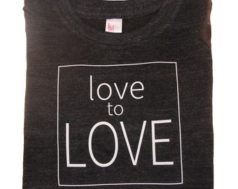 love to LOVE kids t-shirt Toddler shirt in slate grey.  Made for boys and girls.