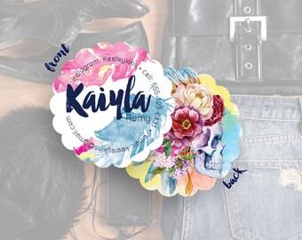 Business Card Design, Social Media Cards, Blogger Contact Cards, Custom Business Cards, Cards & Case// Kaiyla S-S11 UU1