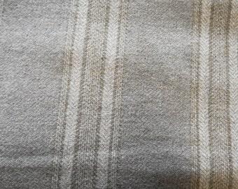 Grey - Neutral Stripe - Felted Wool Fabric / One Fat Quarter or One Fat Eighth Yard in 100% Wool