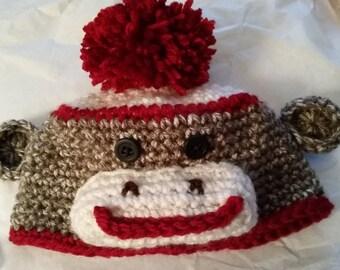 RTS Black Friday Sock Monkey Beanie Cap Hat Christmas Winter Hat