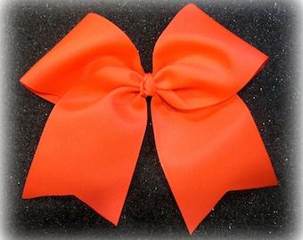 Cheer Bows, Neon Cheer Bow, Girls Cheer Bows, Orange Cheer Bow, Softball Bows, Team Bows, Dance Bows, Cheerleader Hair Bows, 7 inch bows