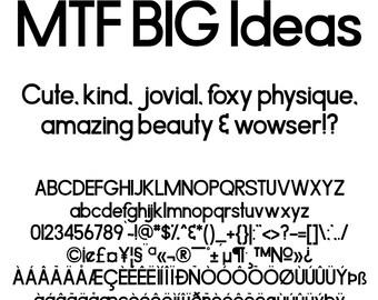 MTF BIG Ideas Font