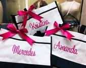 Set of 6, Monogrammed Tote, Bridesmaid Gift, Personalized Bridesmaid Tote, Wedding Party Gift, Bridesmaid Bag, Personalized Gift
