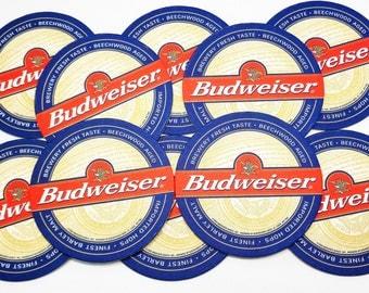 Vintage Mint Budweiser Coasters Set of 12