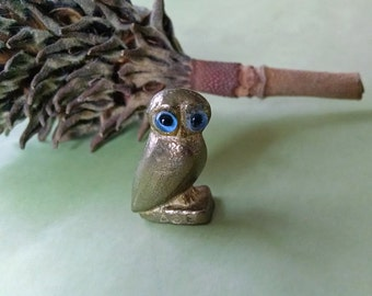 Vintage Brass Owl Figurine Greek Goddess Athena Spirit Animal