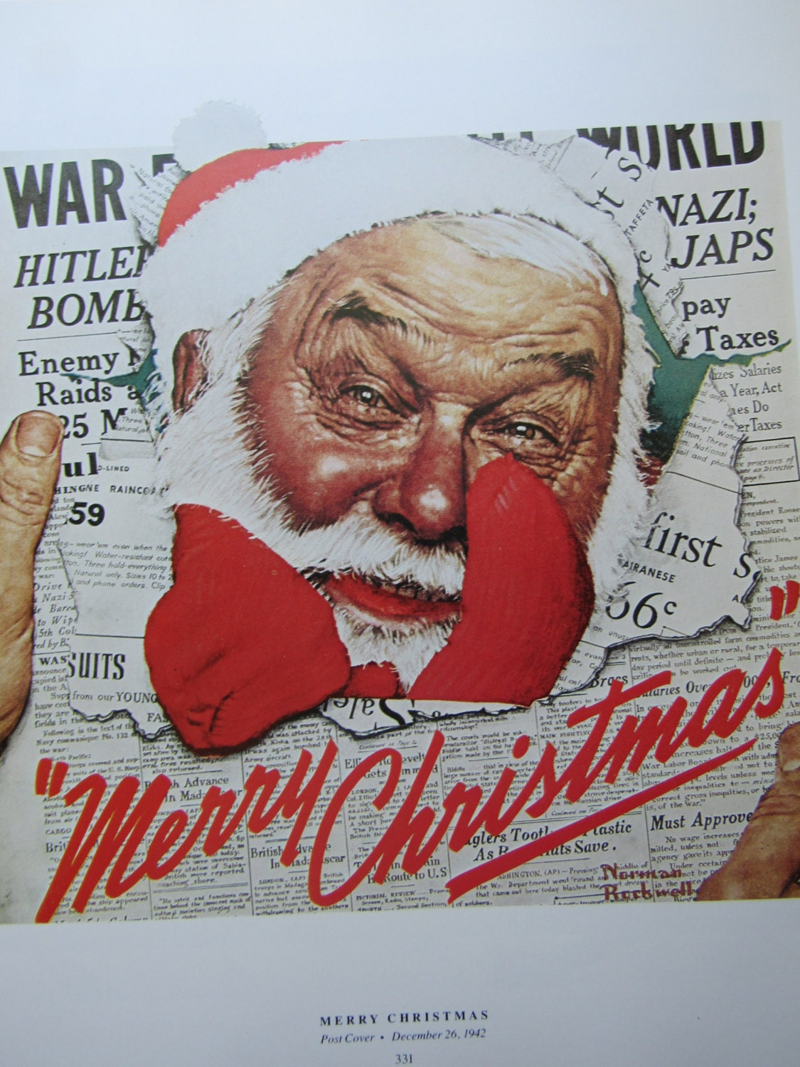 Merry Christmas/The Game , Norman Rockwell Magazine Cover Prints, 2 ...